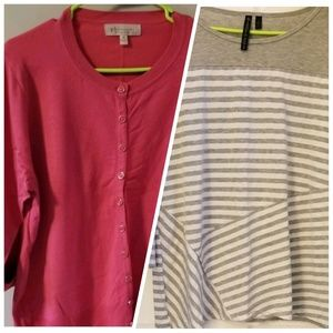 Sweaters - TWO 2x Tops